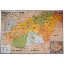 Postleitzahlenkarte Ungarn 1:400.000