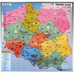 Postleitzahlenkarte Polen 1:750.000