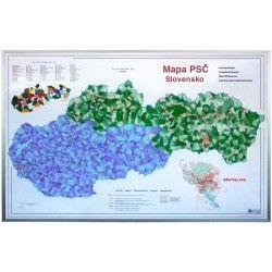 Postleitzahlenkarte  Slowakei 1:435.000