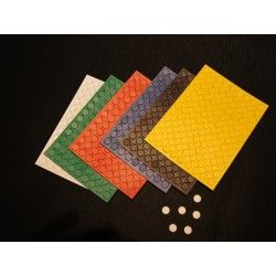 Set runde magnete (10mm) in 6 farben (108 magnete)*
