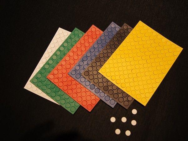 Set runde magnete (10mm) in 6 farben (108 magnete)*
