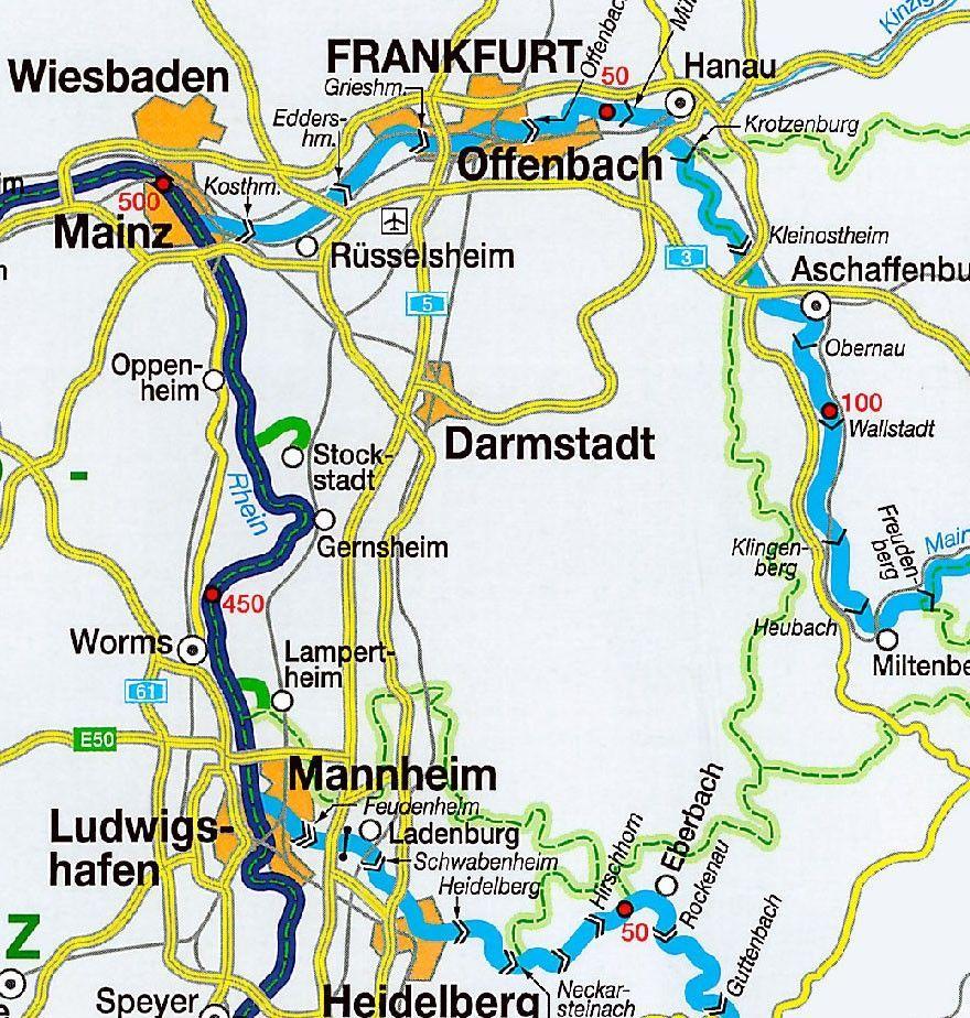 Waterwegen midden-Europa