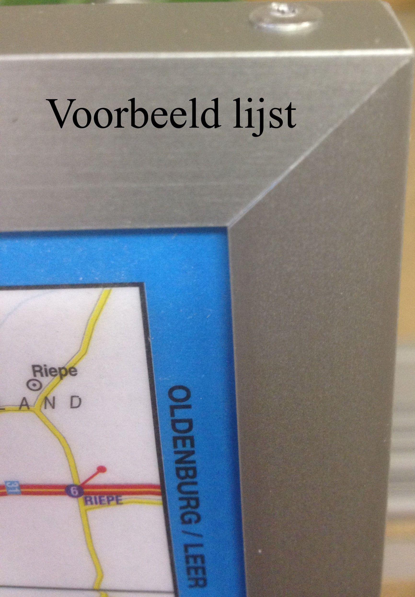 Landkaart Scandinavie