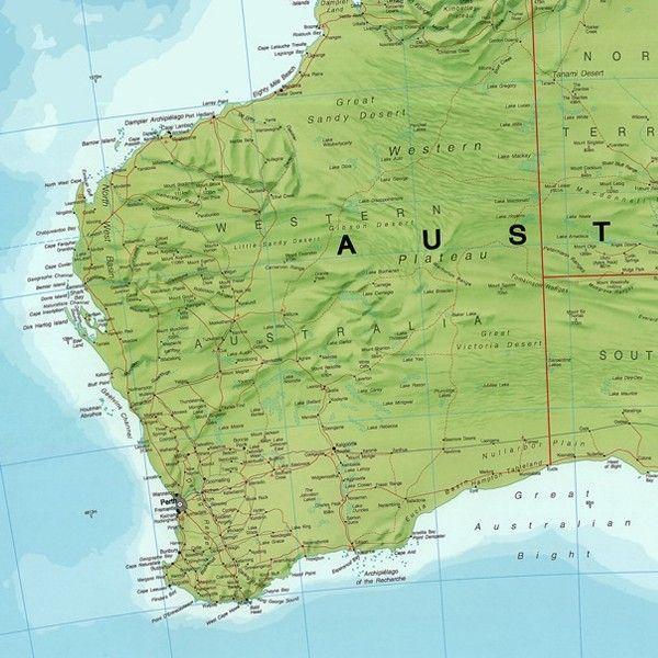 Kontinentkarte  Australië 1:7.000.000