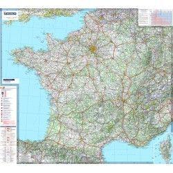 Landkarte  Frankreich 1:1.000.000 mit platz namen index