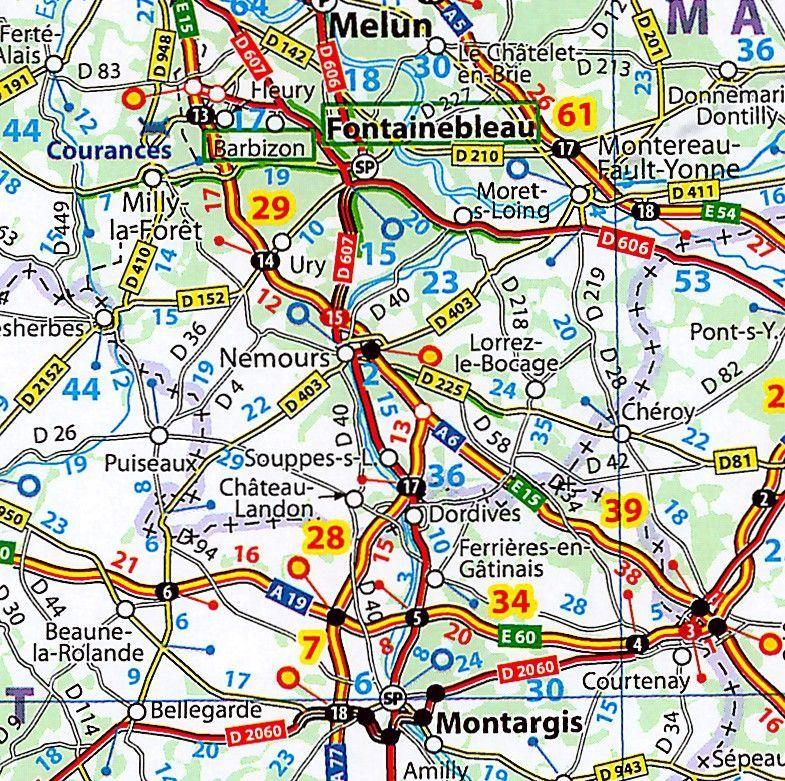 Landkaart Frankrijk