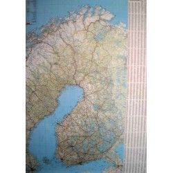 Landkarte Finlland 1:1.000.000 mit platz namen index