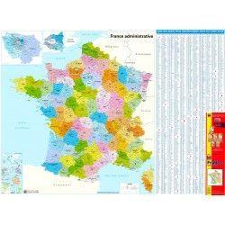 Postleitzahlenkarte Frankreich 1:1.000.000