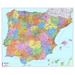 Postleitzahlenkarte Spanien / Portugal 1:1.100.000