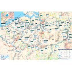 Wasserstrassenkarte Belgien 1:250.000