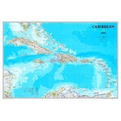 Landkarte Karibik 1:3.293.000