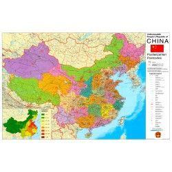 Postleitzahlenkarte China 1:4.000.000
