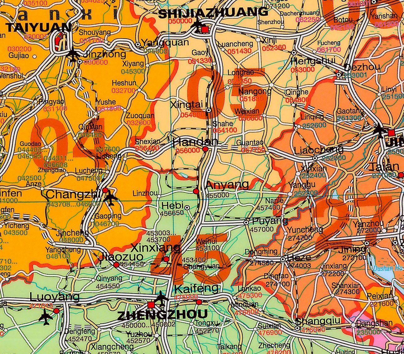 Postcodekaart China