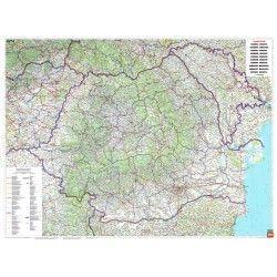 Landkarte Rumänien 1:700.000 mit platz namen index