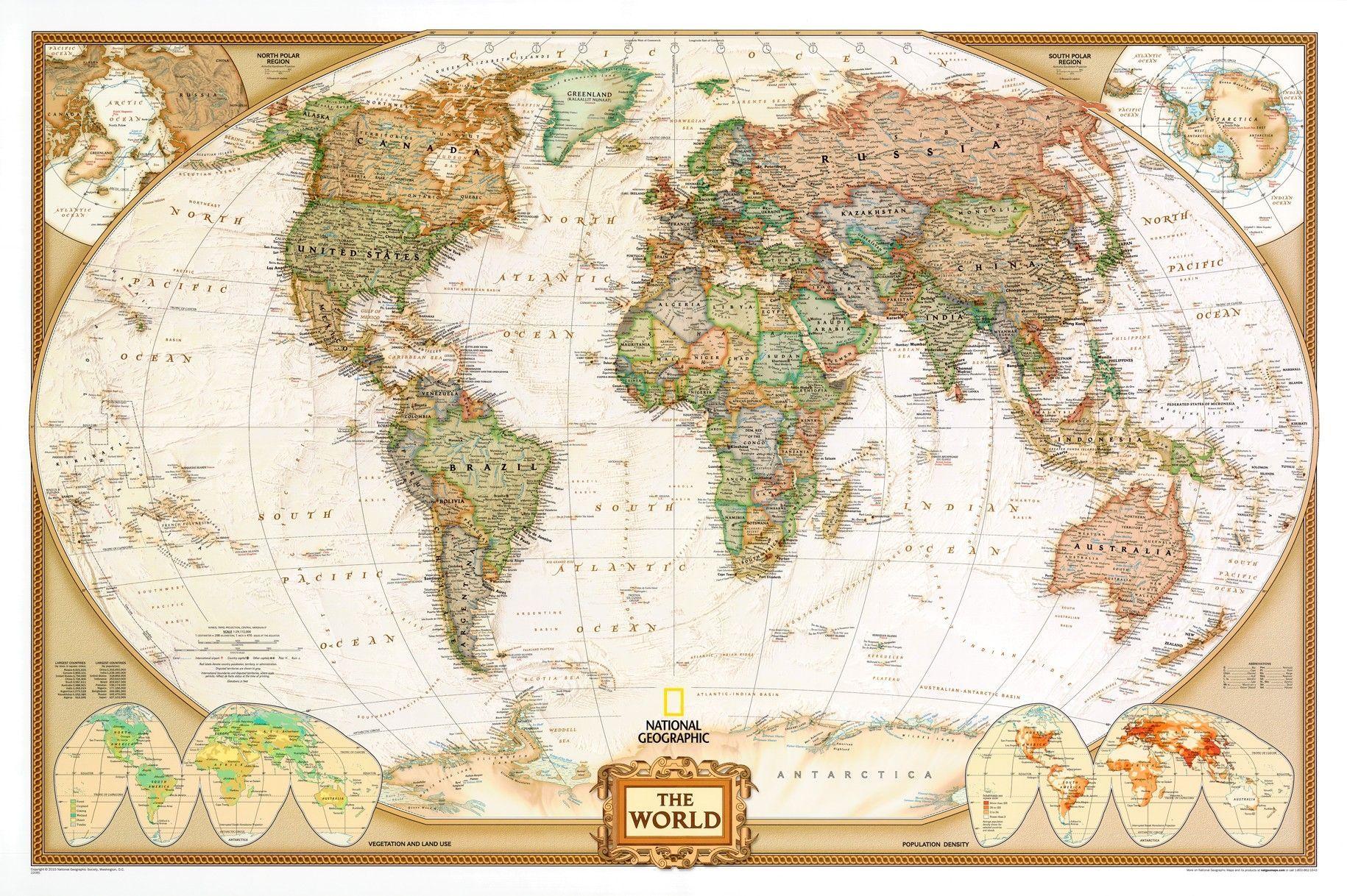 Wereldkaart D Antiek