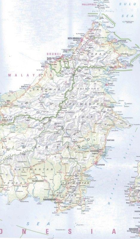Landkarte Indonesien