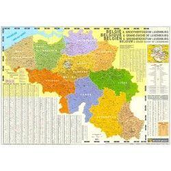 4-stellige Postleitzahlenkarte Belgiën 1:250.000