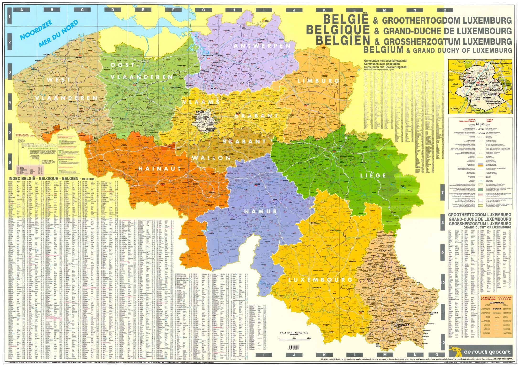 4-cijferige Postcodekaart België