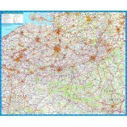 Landkarte  Belgien 1:250.000 mit platz namen index