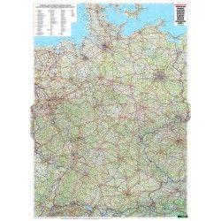 Landkarte  Deutschland 1:700.000 mit platz namen index