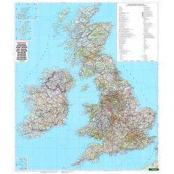 Landkarte  Grossbritannien 1:900.000 mit platz namen index