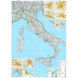 Landkarte Italien 1:1.000.000 mit platz namen index