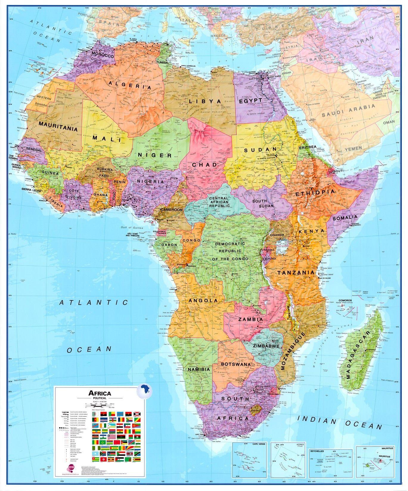 Continentkaart Afrika