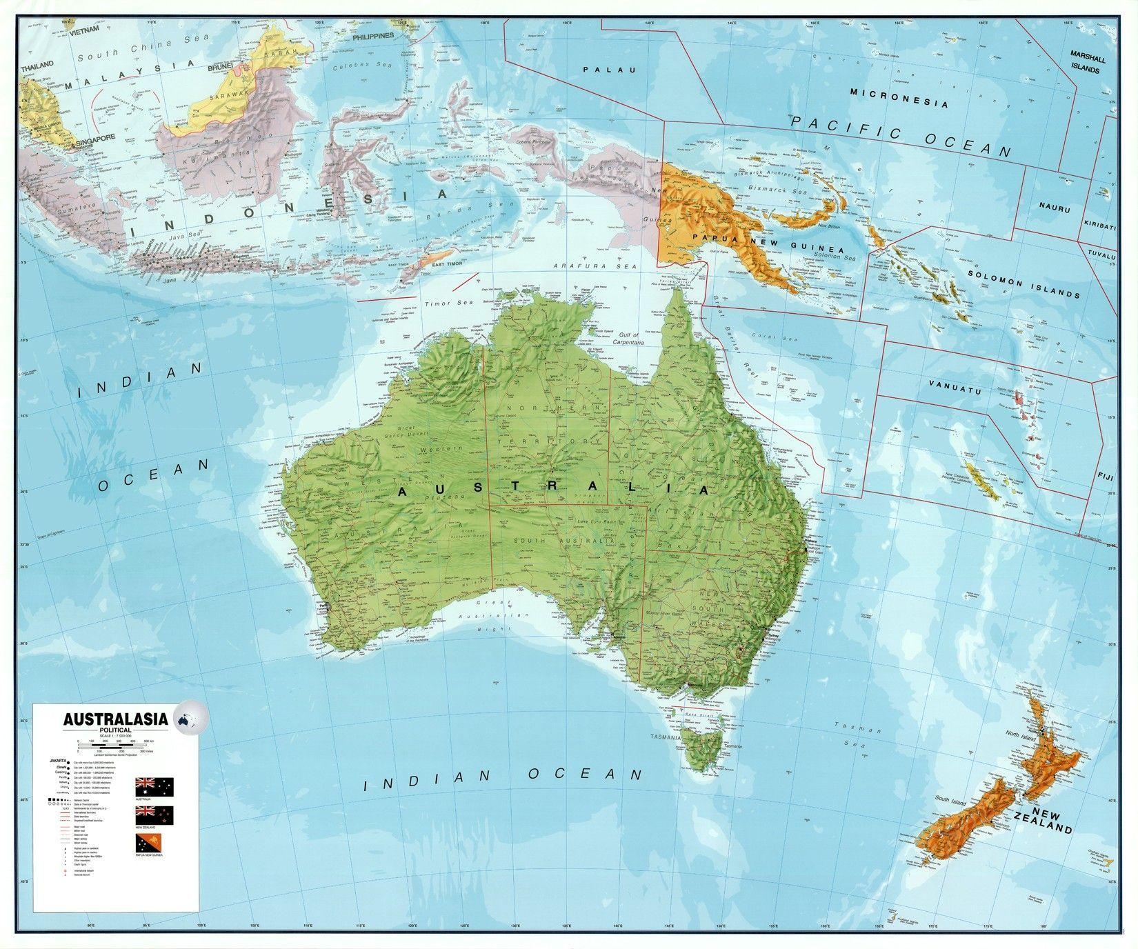 Continentkaart Australië
