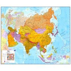 Kontinentkarte  Azië 1:11.000.000