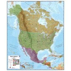 Kontinentkarte  Noord-Amerika 1:7.000.000