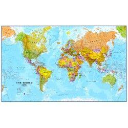 Weltkarte Fin Englisch 1:30.000.000