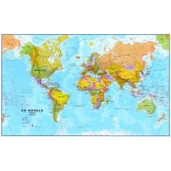 Weltkarte G auf Niederlandisch 1:30.000.000