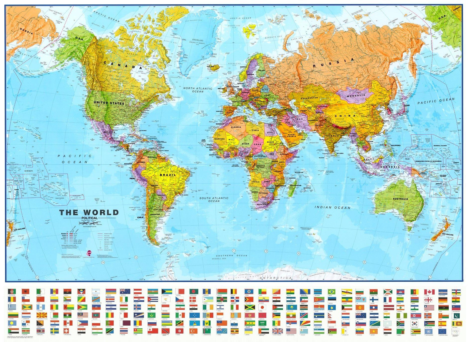 Wereldkaart KEngelstalig
