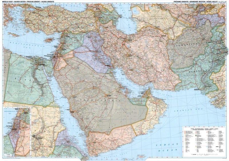 Landkarte Naher Osten 1:4.000.000