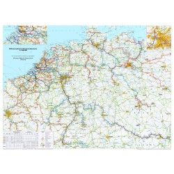 Wasserstrassenkarte  mittel-Europa 1:1.000.000