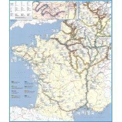Wasserstrassenkarte Frankreich 1:1.694.000