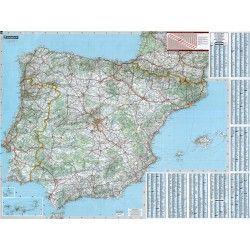 Landkarte  Spanien 1:1.000.000 mit platz namen index
