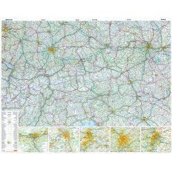 Landkarte  Österreich 1:500.000 mit platz namen index