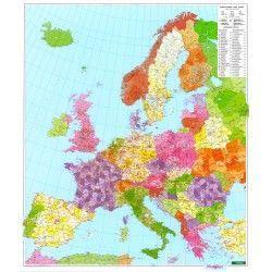 Postleitzahlenkarte  Europa 1:3.700.000