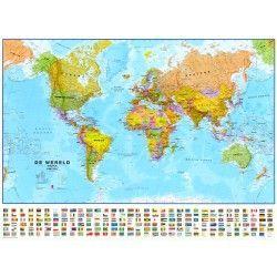 Weltkarte  Lauf Niederlandisch 1:30.000.000