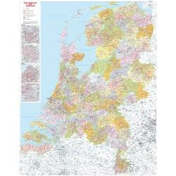 3-stellige Postleitzahlenkarte Niederlande 1:250.000