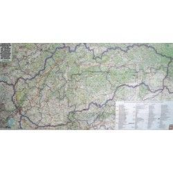 Landkarte Slowakei 1:400.000 mit platz namen index