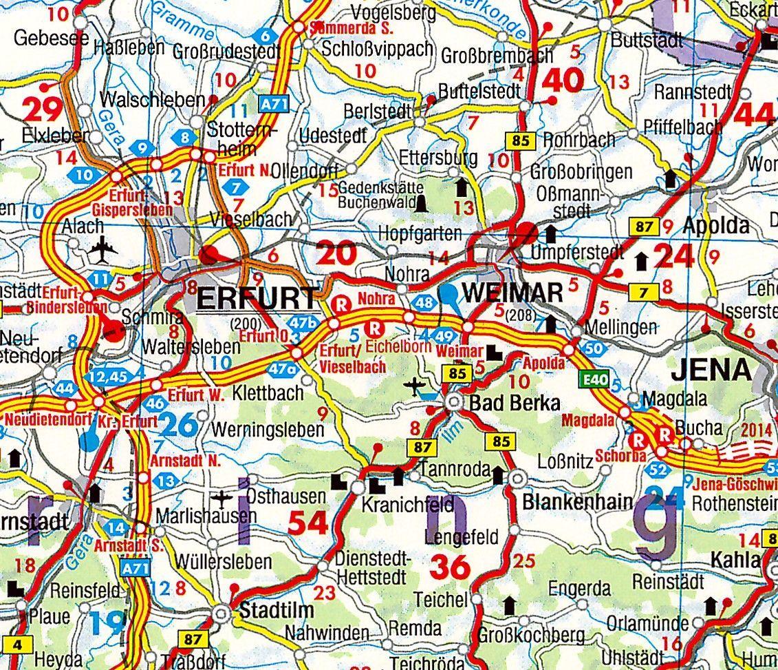 Regionkarte Thüringen