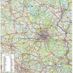 Regionkarte Brandenburg-Berlijn