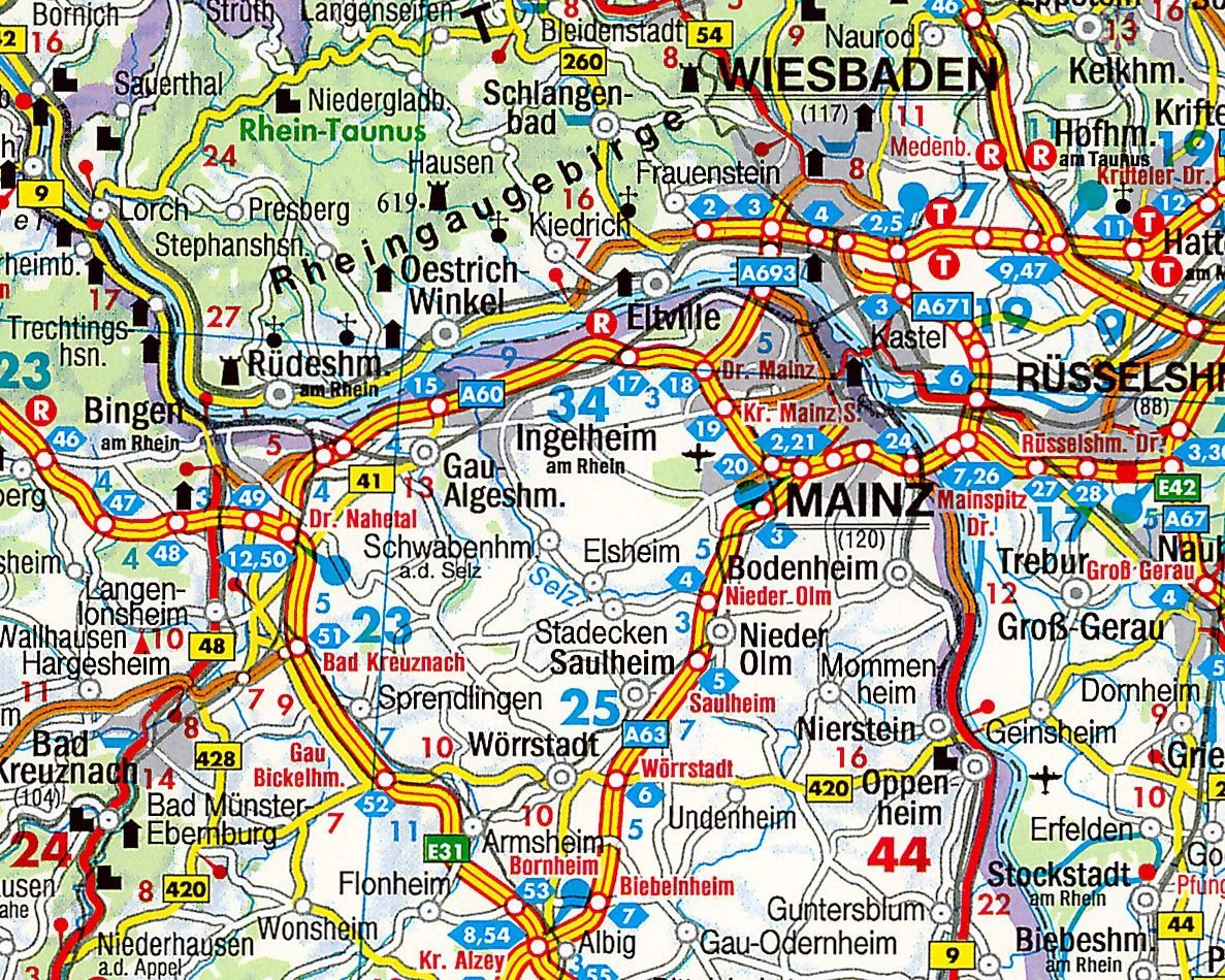 Regionkarte Rheinland-Pfalz-Saarland