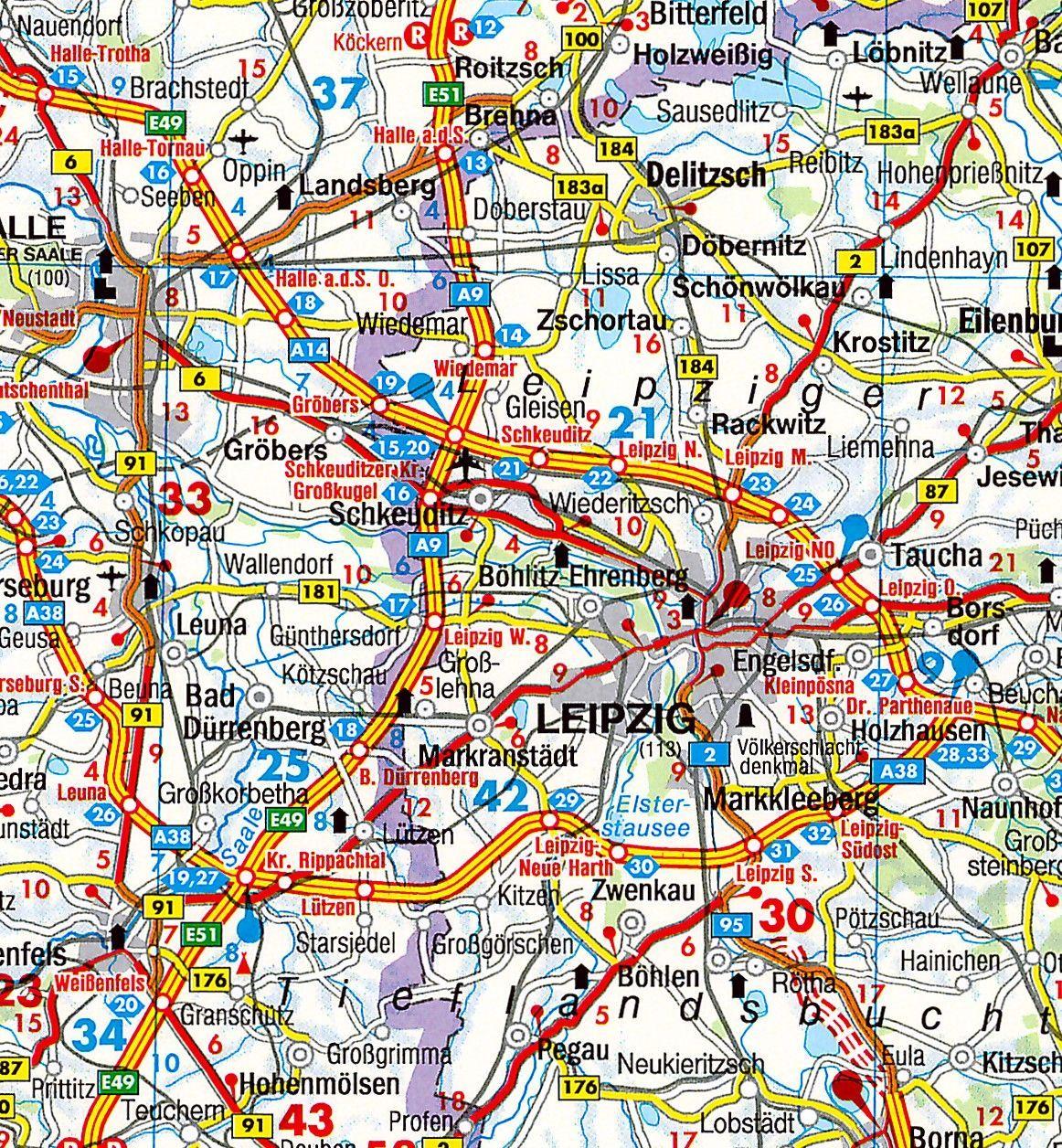 Karte Sachsen Anhalt.Regionkarte Sachsen Anhalt Commee Landkarten