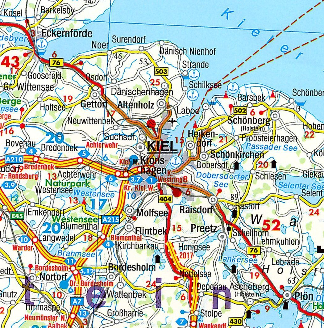 Regionkarte Schleswich-Holstein-Hamburg