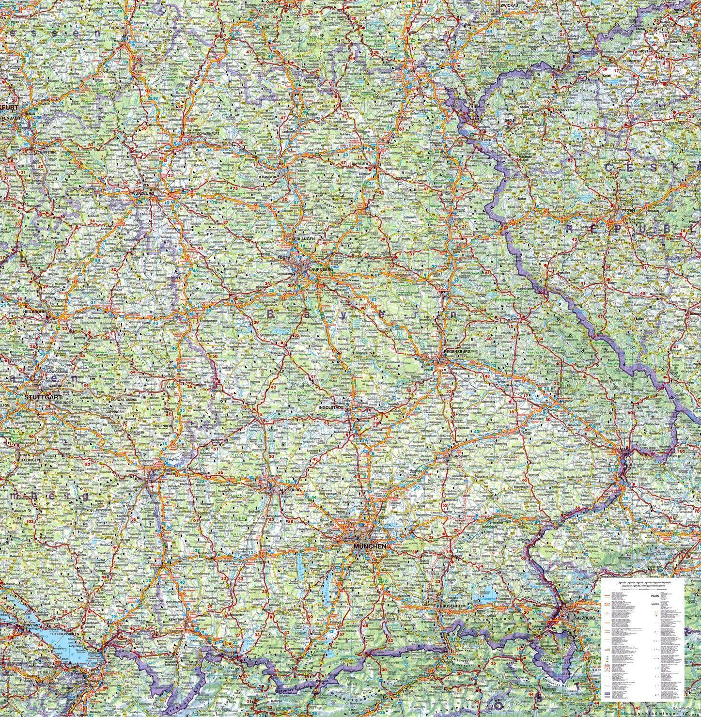 Regionkarte Bayern