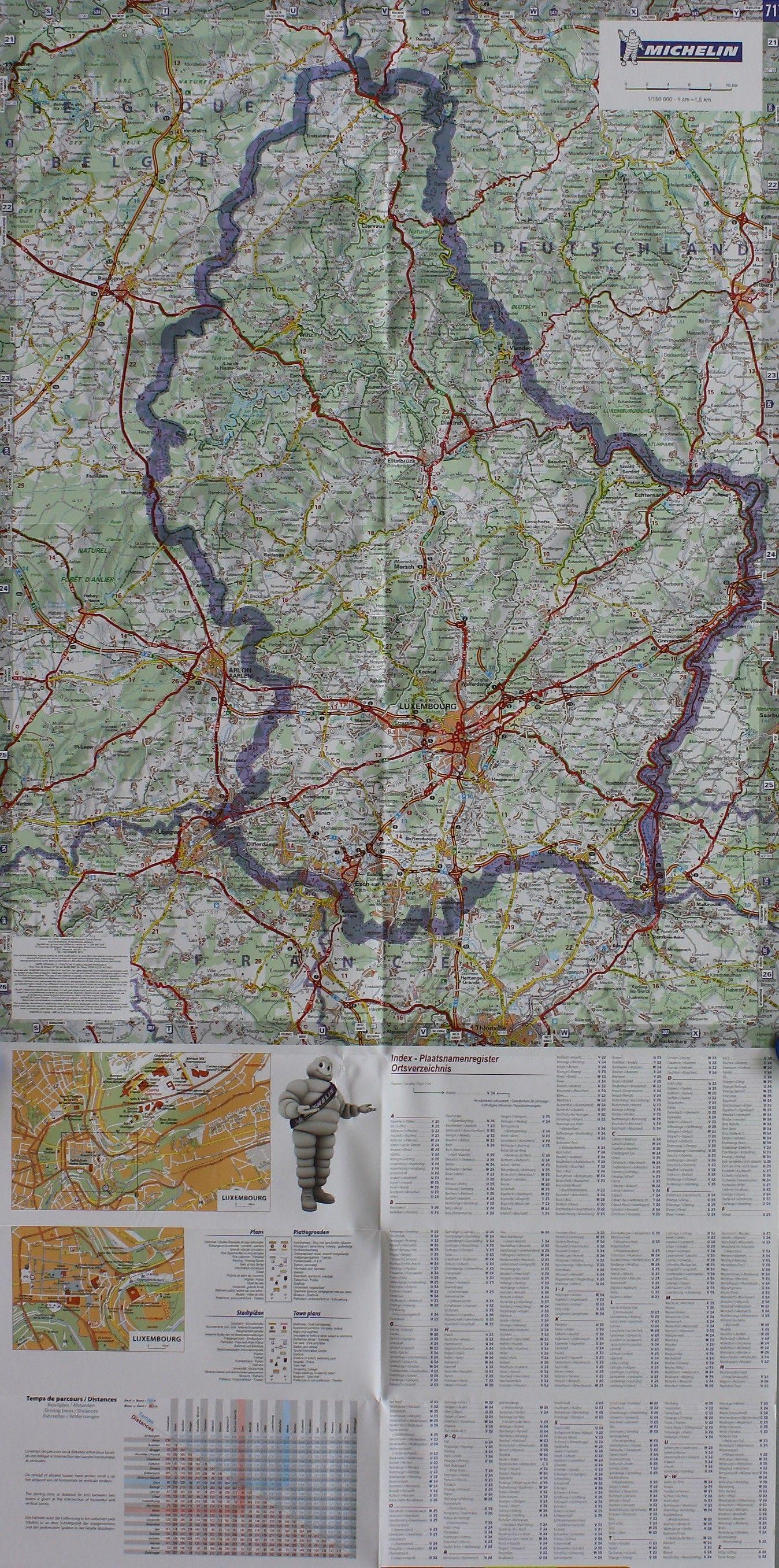 Landkarte Luxemburg