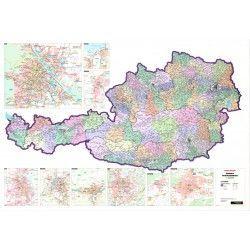 Postleitzahlenkarte Österreich 1:500.000
